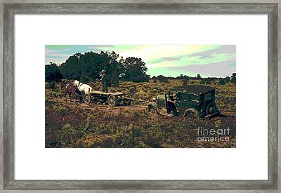 Two Horse Power Auto Framed Print by Padre Art