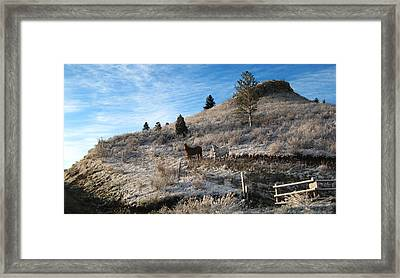 Two Horses Framed Print by Ric Soulen