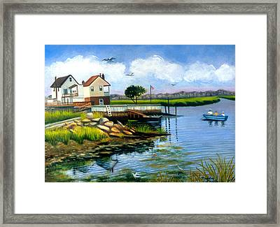 Two Houses In Broad Channel Framed Print