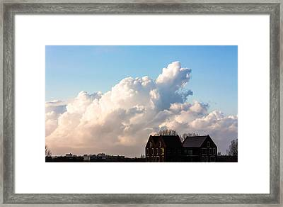 Two Houses One Cloud Framed Print by Semmick Photo