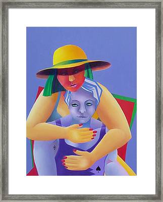 Two In A Chair Framed Print by Karin Eisermann