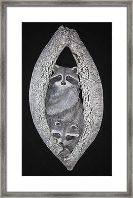 Two In A Tree Framed Print by Janet Knocke