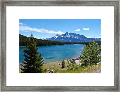 Two Jack Lake Framed Print by Bob and Nancy Kendrick