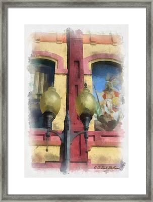 Two Lights Framed Print by Dale Stillman