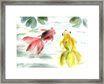 Two Little Fishes Framed Print