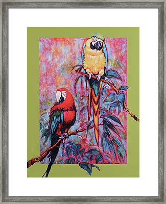 Captive Birds Of The Rain Forest Framed Print