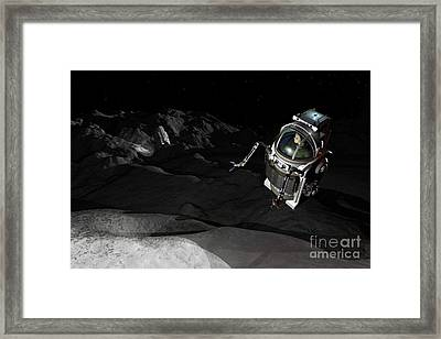 Two Manned Maneuvering Vehicles Explore Framed Print by Walter Myers