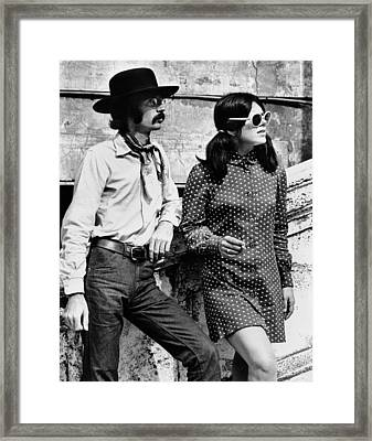 Two Members Of Romes Hippie Population Framed Print