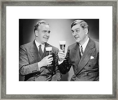Two Men With Alcoholic Beverages Framed Print by George Marks