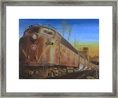 Two Minutes Late Framed Print by Christopher Jenkins