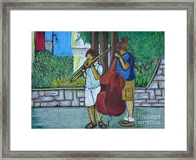 Two Musicians Framed Print