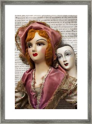 Two Old Dolls Framed Print by Garry Gay