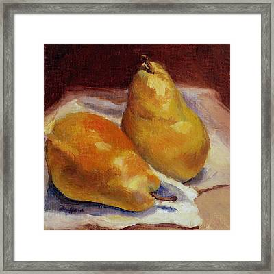 Two Pears Framed Print by Vikki Bouffard