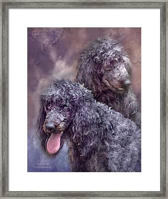 Two Poodles Framed Print by Carol Cavalaris