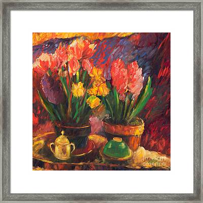Two Potted Plants Framed Print