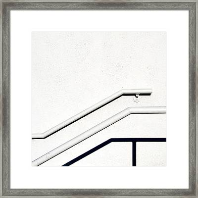 Framed Print featuring the photograph Two Rails by CML Brown