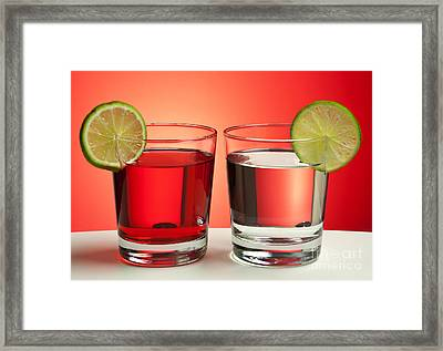 Two Red Drinks Framed Print