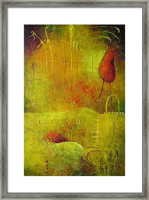 Two Red Objects Framed Print by Lolita Bronzini