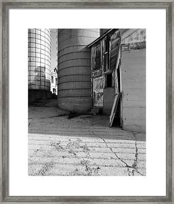 Two Silos Wern Farm Framed Print by Jan W Faul