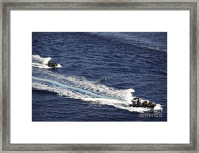 Two Spanish Navy Ridged-hull Inflatable Framed Print by Stocktrek Images