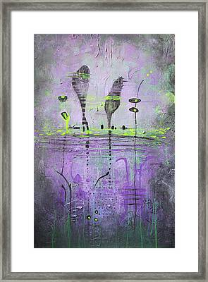 Two Talking Cats Framed Print by Lolita Bronzini