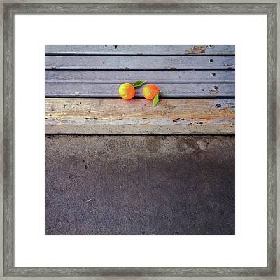 Two Tangerines Framed Print by Sarah Palmer