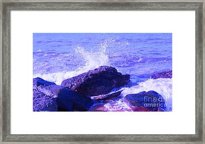 Two Times Blue Framed Print by David Peters