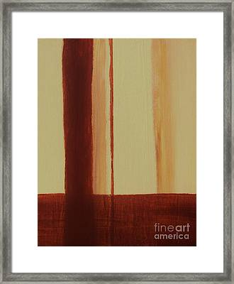 Two Toned Framed Print by Marsha Heiken