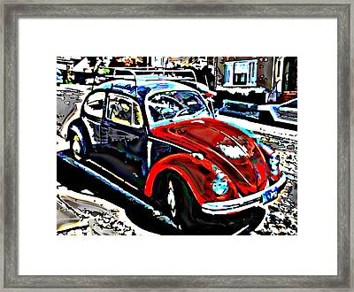 Two Toned Vw Beetle Framed Print