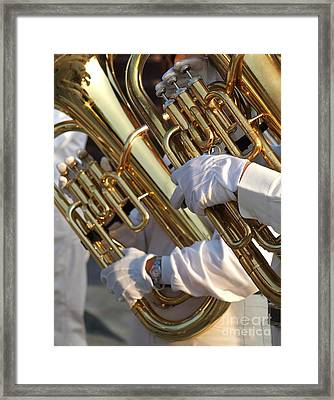Two Tuba Players Framed Print by Yali Shi