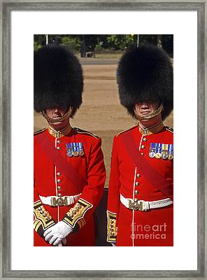 Two Warrant Officers Of The Irish Framed Print by Andrew Chittock
