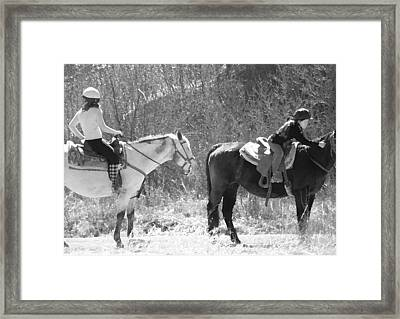 Two Ways Of Being Framed Print