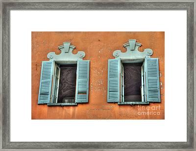 Two Windows Framed Print