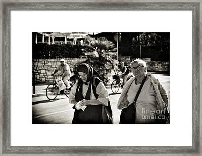 Two Women In Rovinj 2 Framed Print