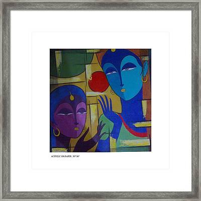 Two Women  Framed Print by Keshaw Kumar
