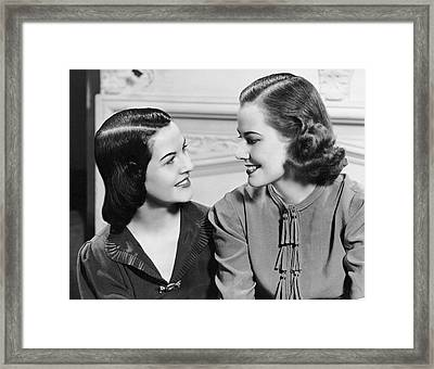 Two Women Talking Framed Print by George Marks