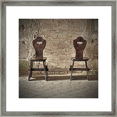 Two Wooden Chairs Framed Print by Joana Kruse