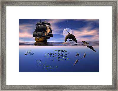 Two Worlds Framed Print by Claude McCoy