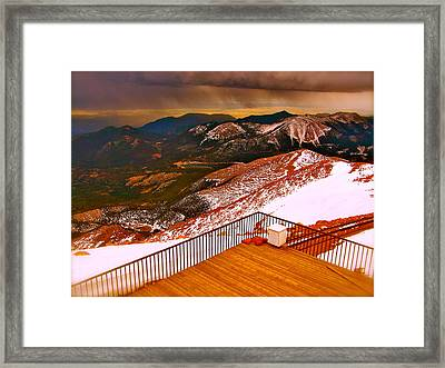 Two Worlds Collide  Framed Print by Amber Hennessey
