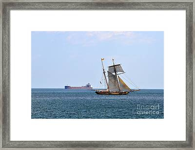 Two Worlds Pass Framed Print by Whispering Feather Gallery