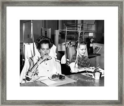 Two Young Women In Rehabilitation Framed Print by Everett