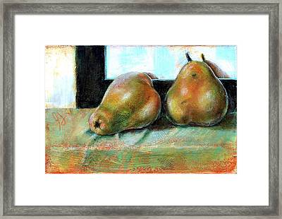 Framed Print featuring the painting Twosome by Gertrude Palmer