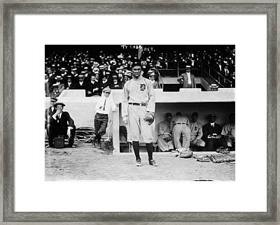 Ty Cobb Framed Print by Bill Cannon