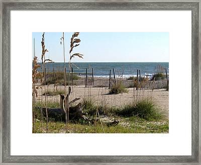 Tybee Island Beach Framed Print by Juliana  Blessington
