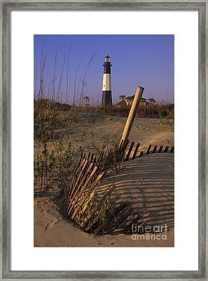 Tybee Island Lighthouse - Fs000812 Framed Print by Daniel Dempster