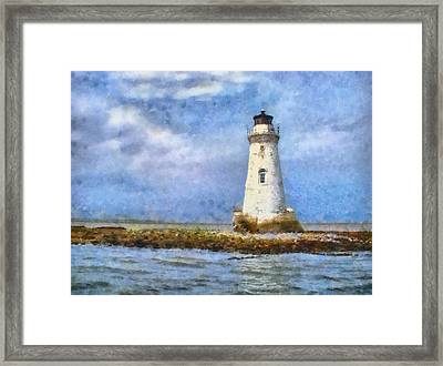 Framed Print featuring the painting Tybee Island Lighthouse by Lynne Jenkins