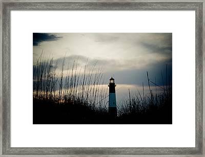 Tybee Sunset Framed Print by Jeremy Byers