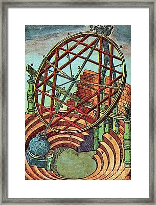 Tycho Brahes Equatorial Armillary Framed Print by Science Source