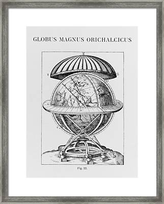 Tycho's Great Brass Globe Framed Print by Science, Industry & Business Librarynew York Public Library