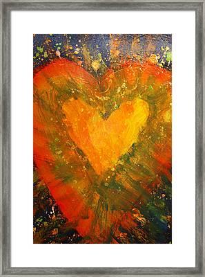 Tye Dye Heart Framed Print by James Briones